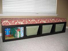 Bookshelf as seat