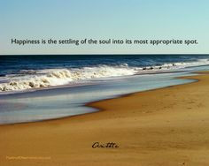 Inspirational Quote Beach Landscape Photography Print, Aristotle.  Happiness. $20.00, via Etsy.