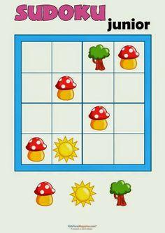 Sudoku for Kids – Bugs – KidsPressMagazine… – family activities Kindergarten Games, Math Games, Toddler Activities, Activities For Kids, Sudoku Puzzles, Word Puzzles, Math Early Finishers, Brain Games, Math For Kids