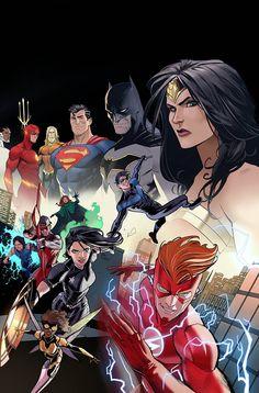DC Comics Heroes and Villains Get Norman Rockwell Art Treatment — GeekTyrant Marvel Dc Comics, Dc Comics Heroes, Dc Comics Characters, Dc Comics Art, Ms Marvel, Cyborg Dc Comics, Teen Titans, Comic Books Art, Comic Art