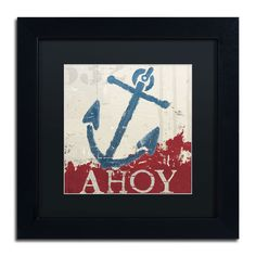 Wellington Studio 'Nautical IV Red' Matte, Framed Wall Art ( Matte, Frame 11x11 (Print is 7x7))