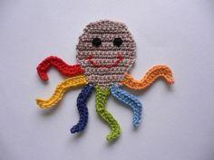 1395732393 927 – Knitting patterns, knitting designs, knitting for beginners. Crochet Seashell Applique, Crochet Applique Patterns Free, Crochet Blanket Patterns, Baby Knitting Patterns, Crochet Motif, Crochet Flowers, Crochet Stitches, Crochet Animals, Crochet Toys