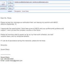 Two-Week Resignation Letter Samples | Formal resignation letter ...
