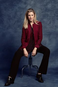 KRISS Fall Collection 2014. Jacket and tunic in different pattern.