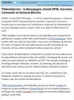 Télémédecine : la Bourgogne choisit COMEARTH