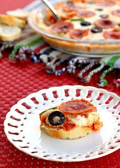 Pizza Dip without the crust. Great idea for those with wheat allergies or diabetics trying to stay away from carbs :-)