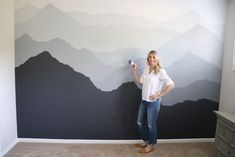 accent wall ideas ~ accent wall bedroom - accent wall - accent walls in living room - accent wall ideas - accent wall ideas painted - accent wall bedroom paint - accent wall living room - accent wall bathroom Bedroom Wall Designs, Accent Wall Bedroom, Bedroom Decor, Bedroom Kids, Ikea Bedroom, Design Bedroom, Bedroom Furniture, Master Bedroom, Mountain Mural
