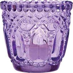 Purple Glass Candle Holder (Bottle Chandelier Candle Holders)