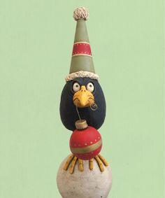 Chicken Lips - Halloween Gallery - Whimsical Folk Art Characters for All Seasons by Artist David H. Everett