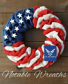 Etsy shop https://www.etsy.com/listing/503310412/air-force-wreath-patriotic-burlap-wreath