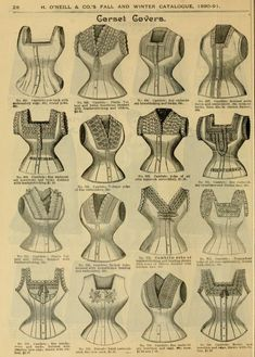 Fall and Winter, 1890-91 Fashion Catalogue - Pretty Corset Covers