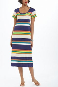 Striational Midi Chemise - Anthropologie.com, Want a Maxi version of this!