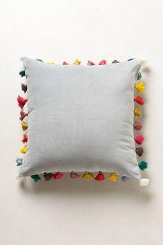 Firenze Velvet Tassel Pillow - anthropologie.com