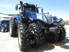 Front of New Holland T8.435 autonomous tractor