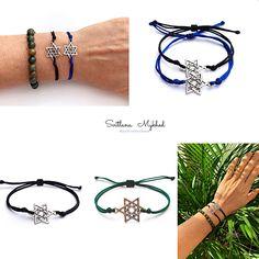 1 bracelet ÉTOILE DE DAVID à cordon ROUGE Kabbale bijoux porte bonheur