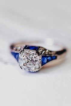 18 Best Vintage Engagement Rings For Romantic Look ❤ Best vintage engagement rings diamond cushion cut gold ❤ More on the blog: https://ohsoperfectproposal.com/best-vintage-engagement-rings/