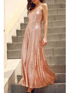 GET $50 NOW | Join Zaful: Get YOUR $50 NOW!http://m.zaful.com/backless-sequins-spaghetti-strap-maxi-dress-p_155821.html?seid=645238zf155821