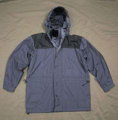 Men's Mountain Pack Ski Windstopper GORE-TEX Jacket Hoodie Size L Grey Black
