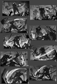 Ru Games/Skyforge project Illustration of a new class- Revenant Based on game-model. Digital Painting Tutorials, Digital Art Tutorial, Art Tutorials, Storyboard Examples, Storyboard Drawing, Art Poses, Drawing Poses, Fighting Drawing, Space Opera