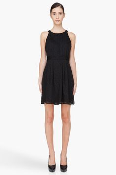 THEORY Black Silk Blend Keresa Dress