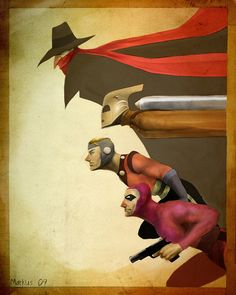 The Shadow, The Rocketeer, Flash Gordon, The Phantom: Pulp Heroes Unite! Comic Book Characters, Comic Character, Comic Books Art, Comic Art, Character Design, Arte Dc Comics, Bd Comics, Art And Illustration, Heros Comics