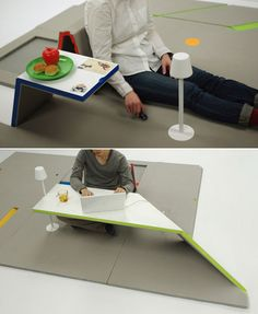 Floor Mat with Folding-Up Furniture-so neat!!!