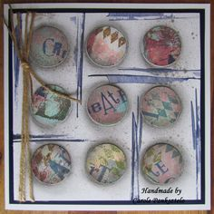 Quality Create Art handcrafted 8x8 greeting card by CraftyMrsPanky