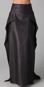 Love this glam maxi skirt--side slits make it sexy too.