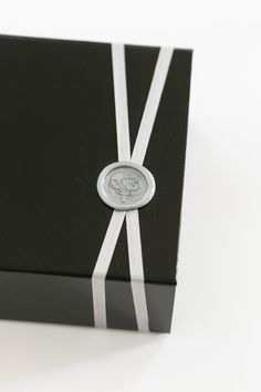 Yonder Design | Black-tie Countdown, New Years Eve, Wedding Inspiration, Custom Event Design, Custom Invitation, Box Invitation, Hourglass, Black and White, Letterpress, New Years Party, Unique Invitations, Luxury Invitations, Modern Design, Graphic Design, Creative, Wax Seal, Silk Ribbon