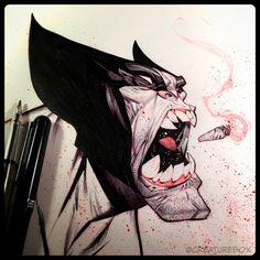 CreatureBox • Inktober Day 20: Berserker #inktober #wolverine...