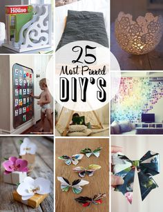 25 of the most popular DIY's and tutorials on Pinterest
