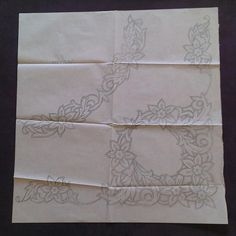 Items similar to Daffodil Table Cloth Corner - Silver Ink - Deighton's - Vintage Embroidery Transfer on Etsy Cutwork Embroidery, Iron On Embroidery, Embroidery Transfers, Vintage Embroidery, Willow Pattern, Flower Spray, Vintage Iron, Fabric Design, Ink