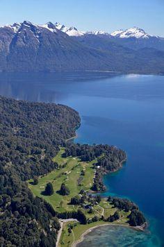 Golf Course - Aerial View - Llao Llao Hotel & Resort - Bariloche - Patagonia - Argentina