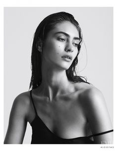 Marine Deleeuw featured in Portraits, August 2015  Marine Deleeuw in a photography by Hannah Khymych © Hannah Khymych