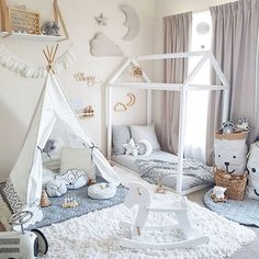 Toddler room perfection  Our dreamy wall decor by Cam Cam is now finally back up for pre order!! We have expected delivery within the next week or so.. These divine pieces consist of a moon, star and cloud and are made from the softest organic grey velvet. Secure yours now at the link in our bio. Tellkiddo storage bags also available.  Image @tamraellis