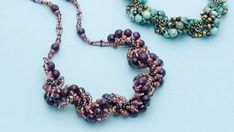 Subscriber Exclusive: Gem of a spiral necklace - Facet Jewelry Making Seed Bead Earrings, Beaded Earrings, Seed Beads, Beaded Necklaces, Right Angle Weave, Peyote Bracelet, Native American Beading, Bead Crochet, Beading Tutorials