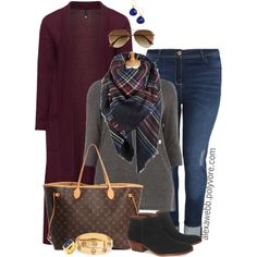 Plus Size - Fall Casual Outfit by alexawebb on Polyvore featuring Manon Baptiste, Sam Edelman, Louis Vuitton, Tory Burch, BaubleBar, SonyaRenée, H&M, outfit, plussize and plussizefashion