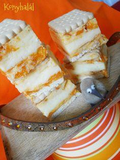 sárgabarackos kekszes-krémes Cheesecake, Sweets, Food, Gummi Candy, Cheesecakes, Candy, Essen, Goodies, Meals