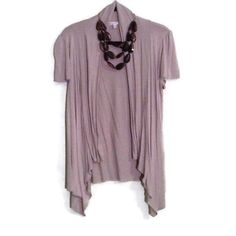 Tan short sleeve cardigan Amazingly comfortable. Can be dressed up or down. Perfect for work moa moa Tops Blouses