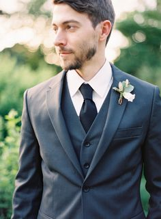 Groom's suit by Topman. Photo: Landon Jacob Photography