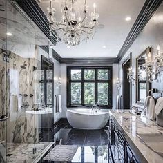 Gorgeous Master Bathroom Whoa!….Tag a friend who would love this too!…. via @decorations__h . . . . . #interiordecor#fixerupper#homedesign#newhome#designideas#interiordecorating#instaluxe#designporn#interiorinspiration#interiorstyle#homeinspo#inst