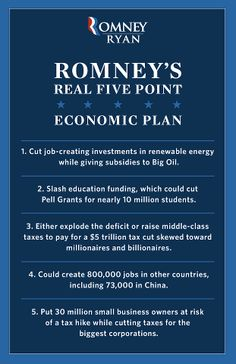 Romney's REAL five-point economic plan