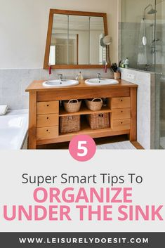 With all the makeup, beauty products, towels and everything else in your shared bathroom, it's no wonder it feels like you never have enough storage. Here are some simple bathroom organization ideas to eliminate the clutter from countertops and cabinets. Under Sink Organization, Home Organization Hacks, Bathroom Organization, Organizing Ideas, Makeup Organization, Decluttering Ideas, Bathroom Cleaning, Makeup Organizer Countertop, Sink Organizer