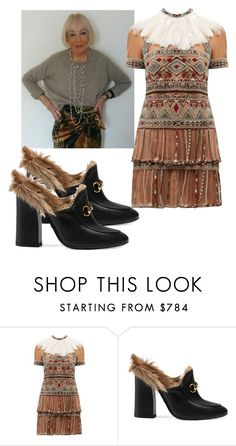 """""""Gypset"""" by kit92 ❤ liked on Polyvore featuring Valentino and Gucci"""