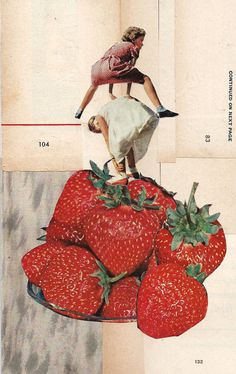 bliss cut/paste on paper, 2014 Collage by Magda Dudziak Collages, Collage Illustration, Graphic Design Illustration, Illustrations, Surrealist Collage, Collage Techniques, Collage Art Mixed Media, Go For It, Photocollage