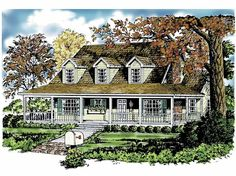 Home Plan HOMEPW21591 - 1250 Square Foot, 2 Bedroom 2 Bathroom + Farmhouse Home with 0 Garage Bays | Homeplans.com
