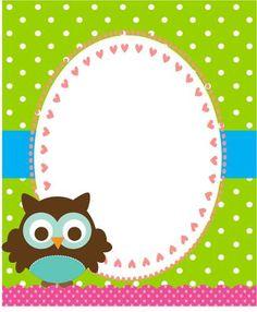 tarjetas buhos infantiles - Buscar con Google