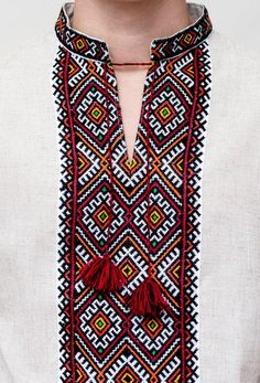 rushnichok - New Ukrainian Vyshyvanka shirt Gray multy color Embroidered NIZINKA Linen July Gift Idea Cross Stitching, Cross Stitch Embroidery, Embroidery Patterns, Hand Embroidery, Cross Stitch Designs, Cross Stitch Patterns, Inkle Weaving Patterns, Kutch Work Designs, Palestinian Embroidery