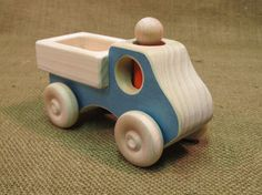 Wooden Toy Pickup Truck with person by uswoodtoys on Etsy, $18.95