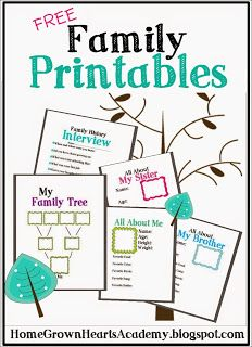 FREE Family Printables                                                       …